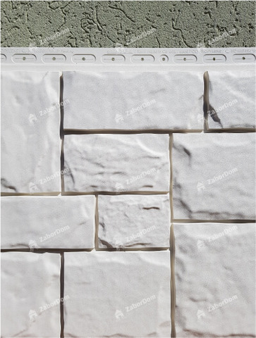Фасадная панель Гранд Лайн Крупный камень Молочный 1102,5х417,4 мм