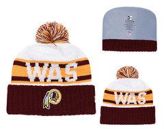 Шапка вязаная с помпоном и с логотипом НФЛ Вашингтон Редскинз (NFL Washington Redskins)