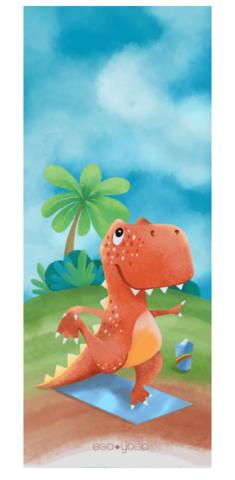 Детский коврик Dino 150*61*0,3 см из микрофибры и каучука