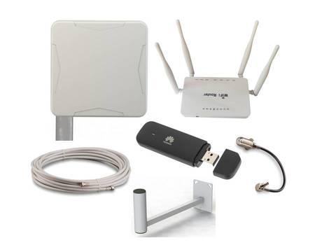 Комплект с антенной Nitsa-5F для усиления 2G/3G/4G/LTE сигнала