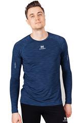 Элитная беговая футболка с длинным рукавом Nordski Pro Blue мужская