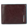 Портмоне Piquadro Blue Square, коричневое, 12,5х9х2 см