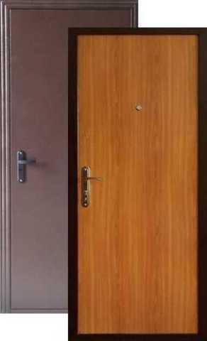 Дверь входная Меги ДС-110, 1 замок, 1 мм  металл, (медь+миланский орех)