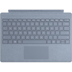 Клавиатура Microsoft Surface Pro Signature Type Cover (Ice Blue) РУС голубой чехол-алькантра