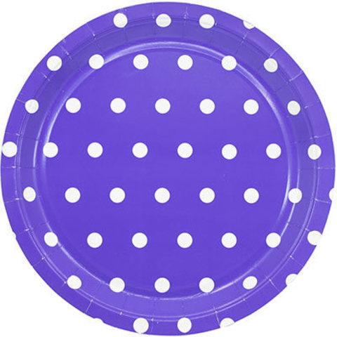 1502-3914 Тарелки малые Горошек фиолетовые, 17 см., 6 шт