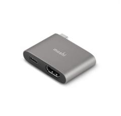 Адаптер Moshi USB-C to HDMI с Функцией Зарядки 4K 60 Гц и HDR Серый