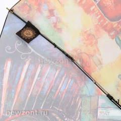 Компактный зонт автомат Lamberti 4 сложения старинный дом