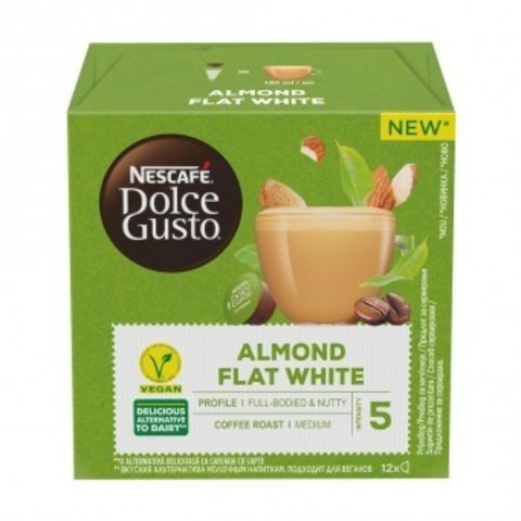 Кофе в капсулах NESCAFÉ Dolce Gusto ALMOND FLAT WHITE. 12 порций