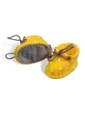 Ботиночки из фетра в горошек - Желтый / горох. Одежда для кукол, пупсов и мягких игрушек.