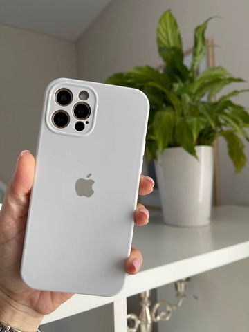 iPhone 12 (6.1) Silicone Case Full Camera /white /