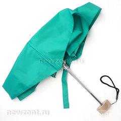 Плоский мини зонтик АртРейн бирюзовая волна