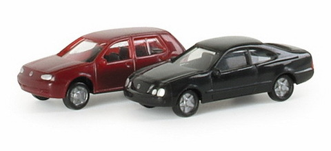 Herpa 065146 набор VW Golf/MB CLK N