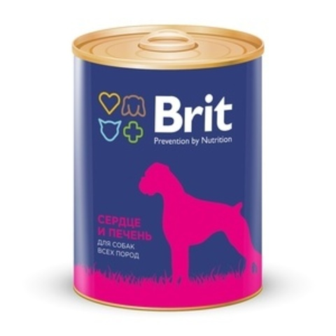 Brit консервы для собак с сердцем и печенью, Heart&Liver 850г