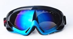 Горнолыжная маска №8 сине-черная