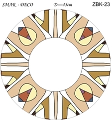Эскиз для росписи, Зеркало диаметр-45см, SMAR-ZBK-23