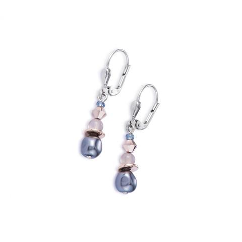 Серьги Coeur de Lion 4863/20-1200 цвет серый, розовый