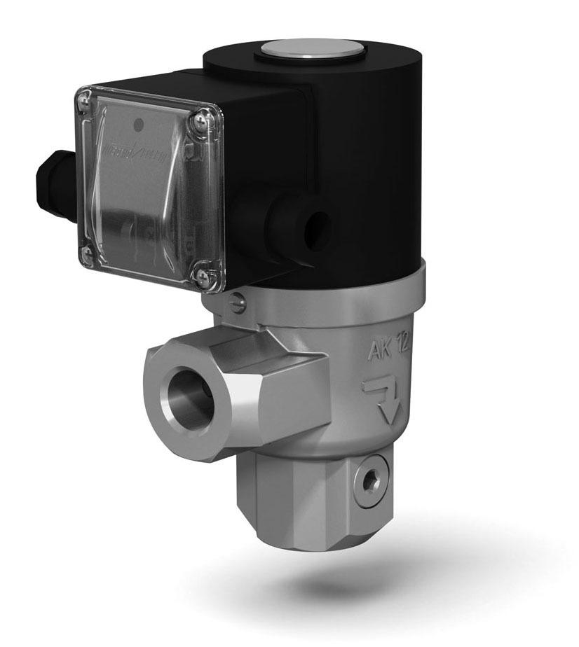 Клапаны электромагнитные двухпозиционные муфтовые угловые на DN 15 - 25