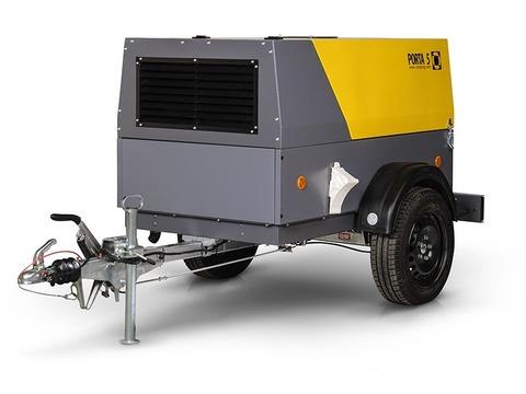 Компрессор дизельный Comprag PORTA 5 на шасси с регулируемым дышлом