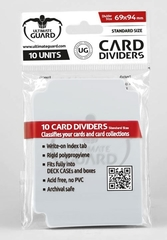 Card Dividers: Transparent