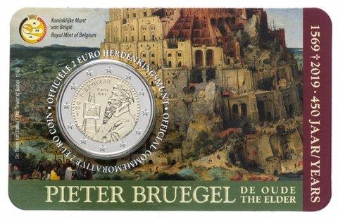 2 евро Бельгия - 450 лет со дня смерти Питера Брейгеля Старшего. 2019 год