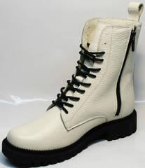 Черно белые ботинки женские зимние Ari Andano 740 Milk Black.
