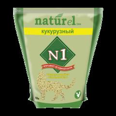 №1 Naturel Кукурузный Наполнитель для туалета кошек комкующийся