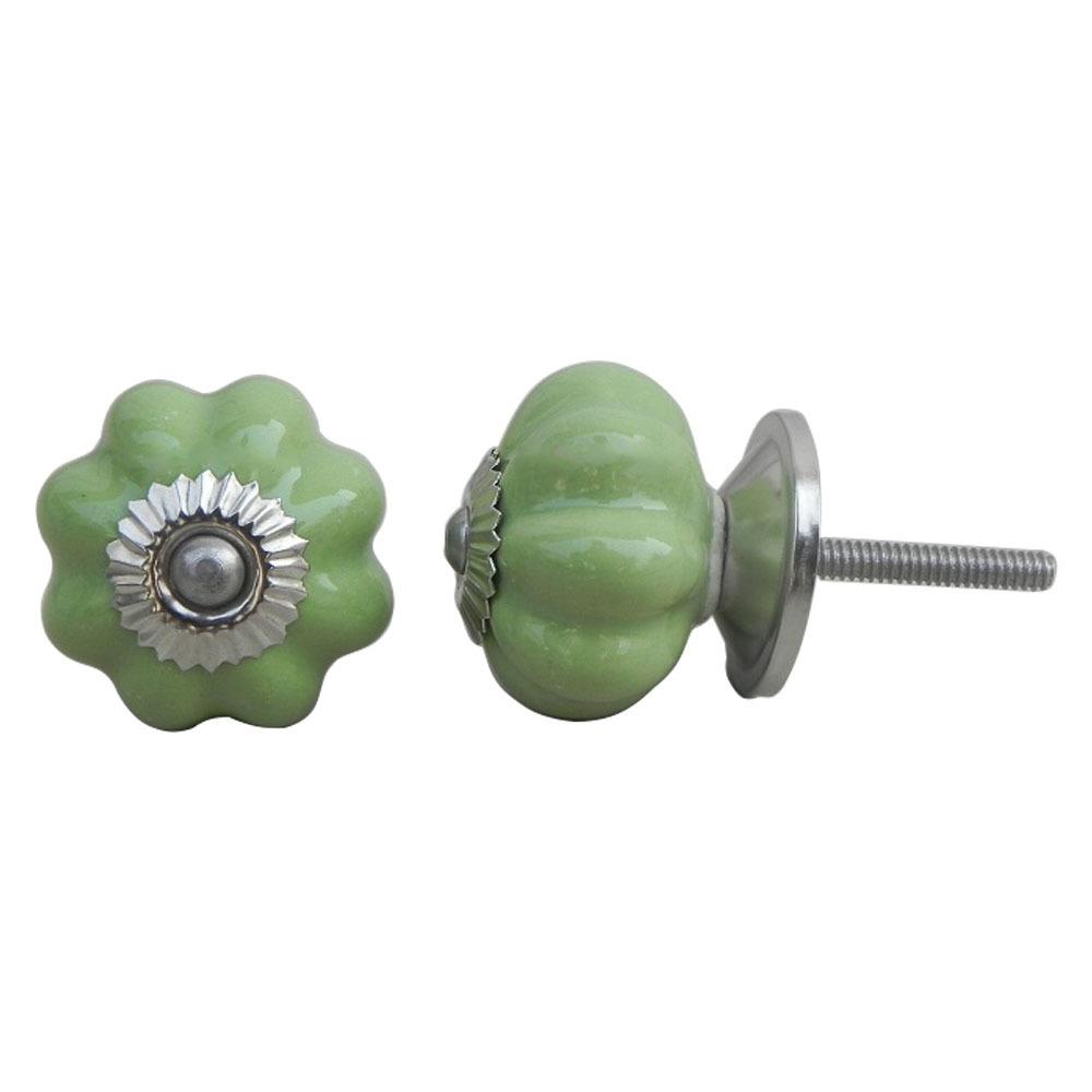 Ручка мебельная керамическая зеленая, арт. 00001225