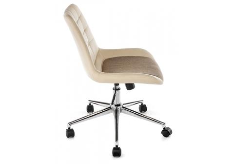 Офисное кресло для персонала и руководителя Компьютерный стул Marco beige fabric 62*62*77 Хромированный металл /Бежевый