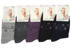 B5007 носки женские, цветные 37-41 (12шт)