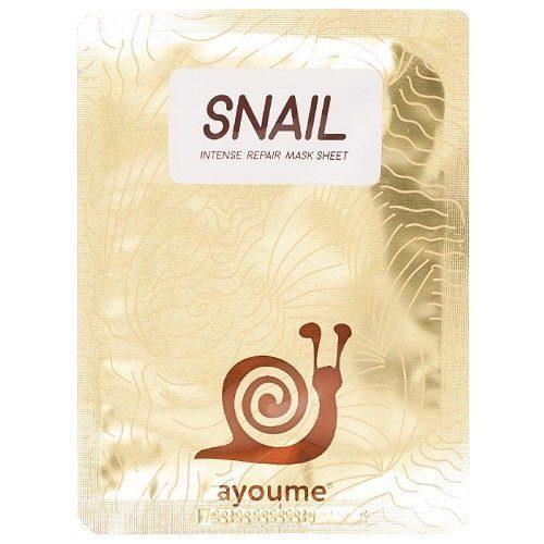 Хиты продаж Маска тканевая для лица с муцином улитки AYOUME Snail Intense Repair Mask 20 мл 02_n88s-bh.jpg