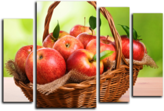 """Модульная картина """"Райские яблочки"""""""
