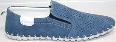 Синие мужские мокасины Alvito 01-1308 92-86