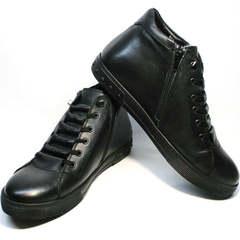 Кеды ботинки мужские зимние Ridge 6051 X-16Black