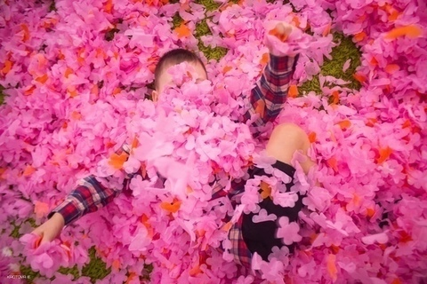 Пушистая бумага для шоу (МУЛЬТИКОЛОР, цветок)