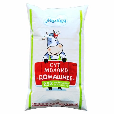 Молоко Домашнее 2,5% 1 л ф/п МолКом КАЗАХСТАН