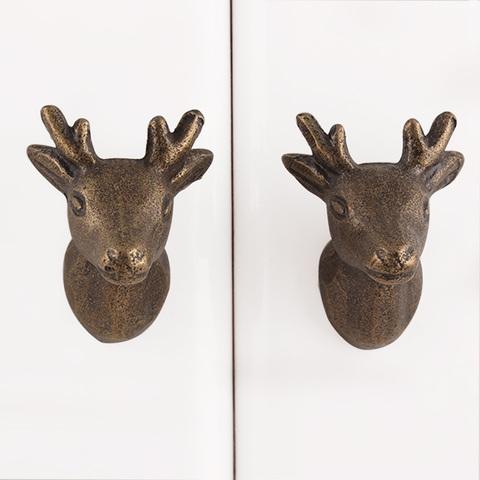 Ручка мебельная металлическая - олень2 мини , арт. 000848