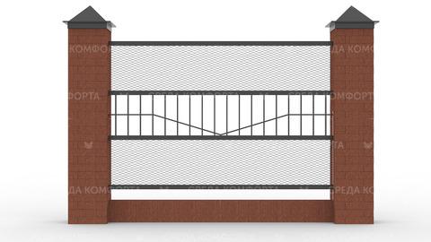 Забор из сетки рабицы 2500х2000 мм ZBR0175