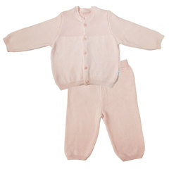 Папитто. Комплект кофточка и штанишки с принтом, розовый вид 1