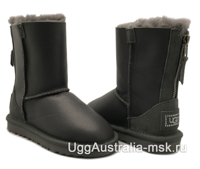 UGG Kids Zip Metallic Gray