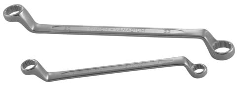 W230608 Ключ гаечный накидной изогнутый 75°, 6х8 мм