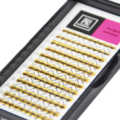 Ресницы Perfect solution готовые пучки 6D (12 линий)