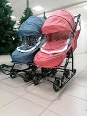 Санки-коляски для двойни
