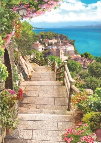 Алмазная Мозаика 40x50 Лестница вниз (арт. HWSА5011)