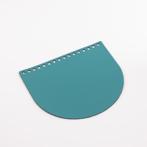 """Клапан для сумочки кожаный """"Морская волна"""" 19*16 см"""