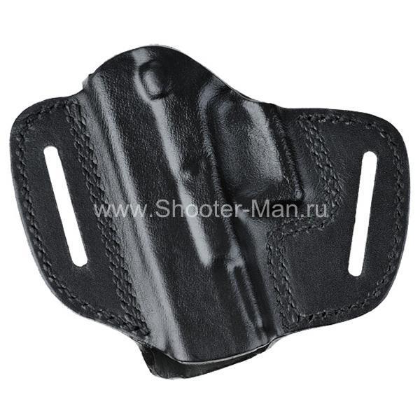 Кобура кожаная поясная для пистолета Глок 19 ( модель № 1 )