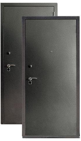 Дверь входная Сибирь S-3/3, 2 замка, 1,5 мм  металл, (серебро+серебро)