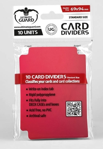 Card Dividers: Red