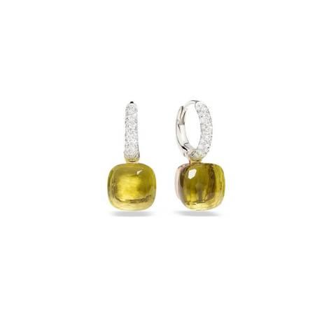 33344-  Серьги Caramel из серебра с желтым кварцем