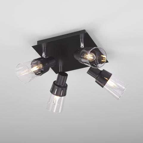 Потолочный светильник с поворотными плафонами 20081/4 черный