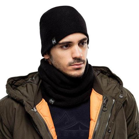 Комплект шарф-шапка вязаный Buff Colt Graphite фото 2